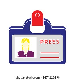 woman id icon. flat illustration of woman id vector icon. woman id sign symbol