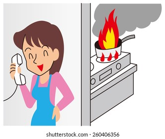 Woman to issue a crazy small fire to phone