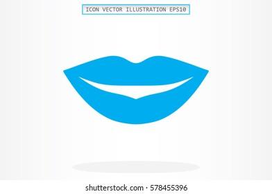 Woman lips icon vector illustration.
