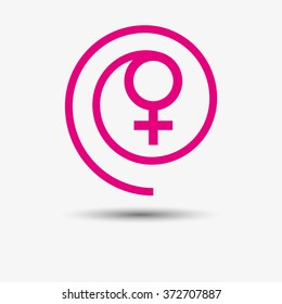 Woman logo. Pink.
