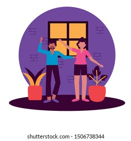 Woman and man avatar design, Person people human profile and user theme Vector illustration