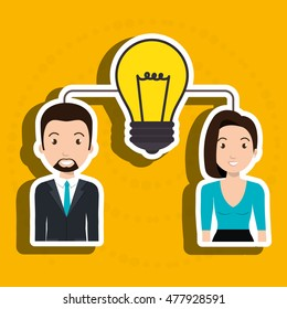 woman man idea teamwork
