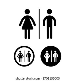 Woman and man public toilet vector signs
