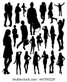 Woman and man Silhouettes