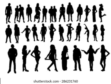 Woman and man Silhouettes design