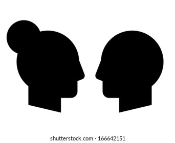 Woman and man vector profiles