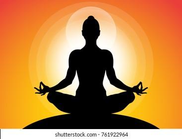Meditation Silhouette Images Stock Photos Vectors Shutterstock