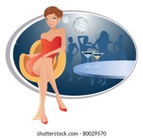 Woman at a Nightclub