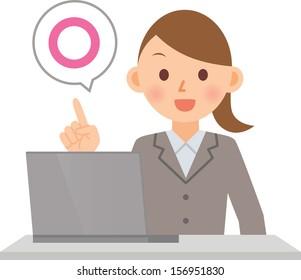 woman PC