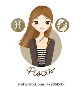 Pisces Woman Images, Stock Photos & Vectors | Shutterstock