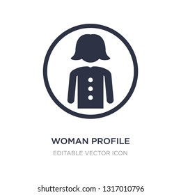 woman profile icon on white background. Simple element illustration from People concept. woman profile icon symbol design.