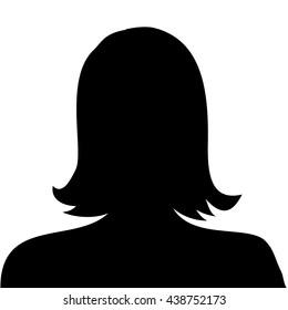 Woman profile picture - vector
