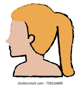 woman profile shirtless avatar character