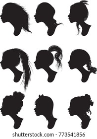 Woman Profile - Silhouettes - Vector – Illustration