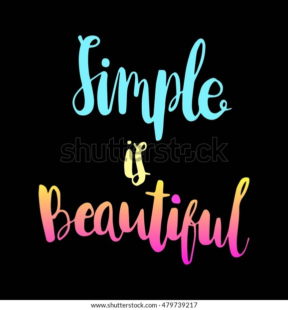 Woman Quote Simple Beautiful On Black | Royalty-Free Stock Image