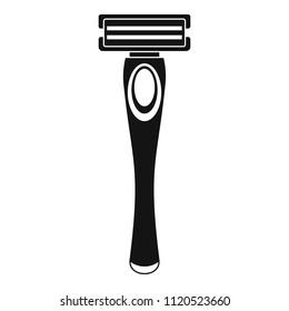 Woman razor icon. Simple illustration of woman razor vector icon for web design isolated on white background