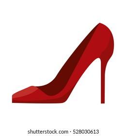 woman red heel