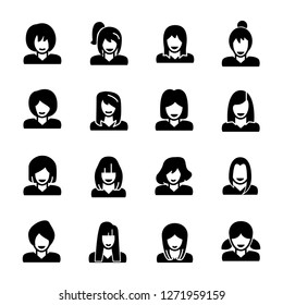 Woman related icons collection.