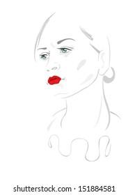 woman retro style vector illustration
