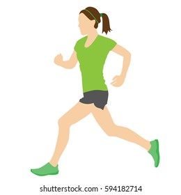 Woman running or jogging.