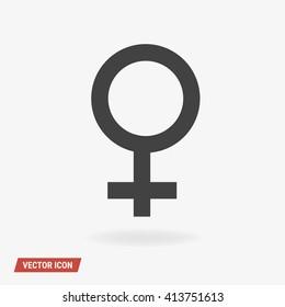 Woman sex Icon Vector.