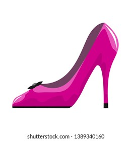 Woman shoe icon with High heels isolated on white background. Vector illustration.