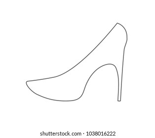 woman shoes outline icon