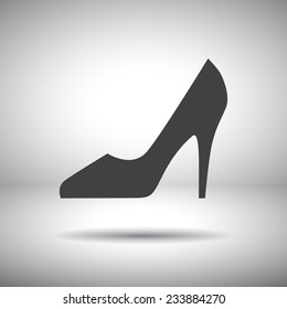 woman shoes vector icon