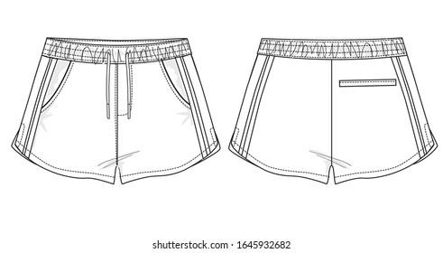woman short pants fashion vector illustration
