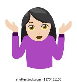 woman shrugging emoji I don't know