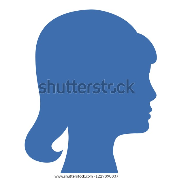 Woman Silhouette Avatar Default Anonymous User Stock Vector (Royalty