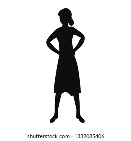 woman silhouette character