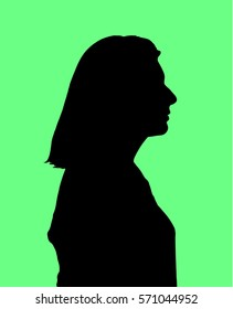 woman silhouette face