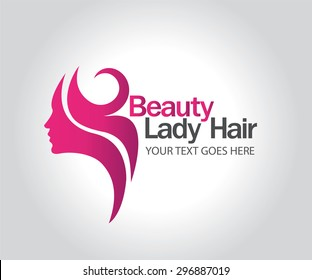 Woman silhouette logo , head, face logo isolated. Use for beauty salon, spa, cosmetics design, etc