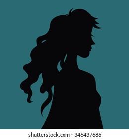 Woman silhouette vector illustration