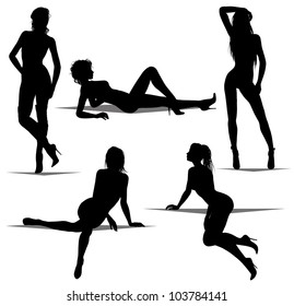 woman silhouettes (also available jpeg version)