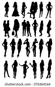 Woman Silhouettes design