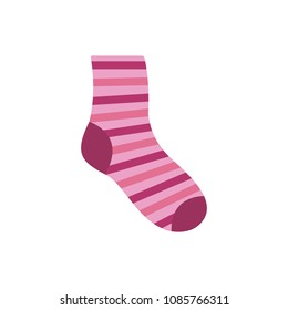 Woman sock icon. Flat illustration of woman sock vector icon for web