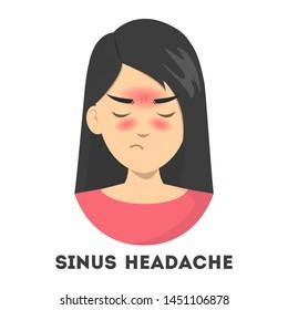 Sinus Headaches Stock Vectors, Images & Vector Art | Shutterstock