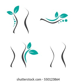 Woman Surgery and Chiropractic Logo Set