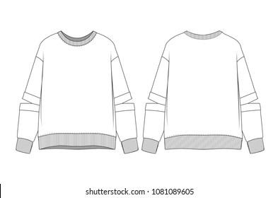 woman sweatshirt vector illustration