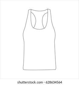 Woman Tank Top Front Blank Template Stock Vector Royalty Free