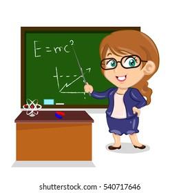 woman teacher of physics