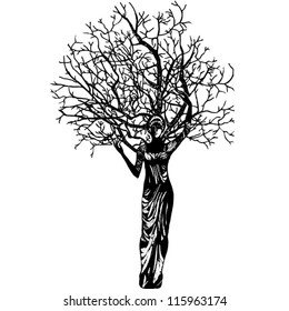 woman tree graphic