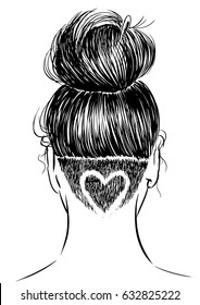 woman with undercut design