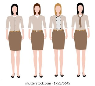 Woman in uniform design