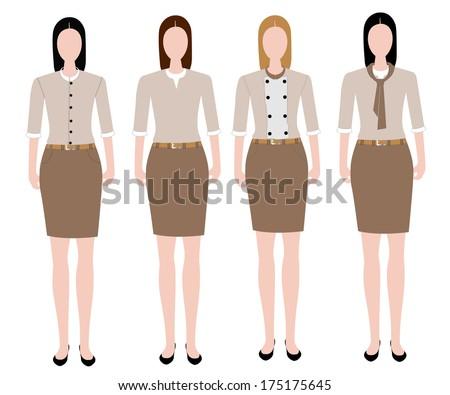 4d2cdb42af8a Woman Uniform Design Stock Vector (Royalty Free) 175175645 ...