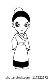 Woman vector cartoon