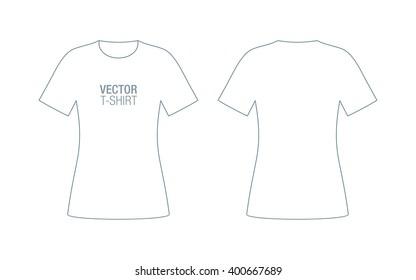 Mens Vneck Vector Tshirt Template Front Stock Vector Royalty Free