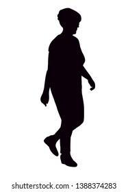 woman walking body silhouette vector
